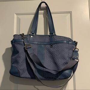 Coach Bags - Coach blue diaper bag